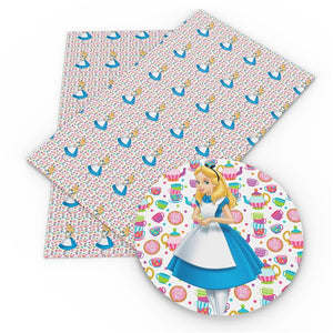 Alice In Wonderland Faux Leather Sheet