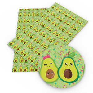 Avocado Couple Faux Leather Sheet
