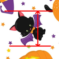 Halloween Black Cat on Pumpkin Faux Leather Sheet