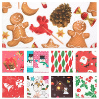Christmas Designs #5 Faux Leather Full Sheet Pack of 9