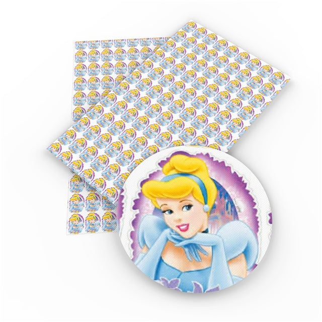 Princess Cinderella Faux Leather Sheet