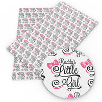 Daddy's Little Girl Faux Leather Sheet