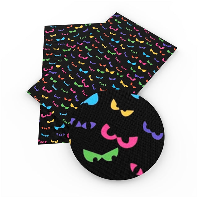 Halloween Eyes Faux Leather Sheet