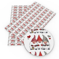 Christmas Gnome Trio Faux Leather Sheet