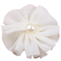Chiffon Flower with Pearl 6cm