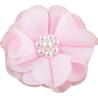 Chiffon Flower with Pearls 5cm