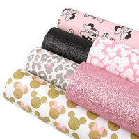 Minnie Mouse Pink Faux Leather Full Sheet Pack of 6