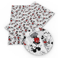 Mickey & Minnie Faux Leather Sheet