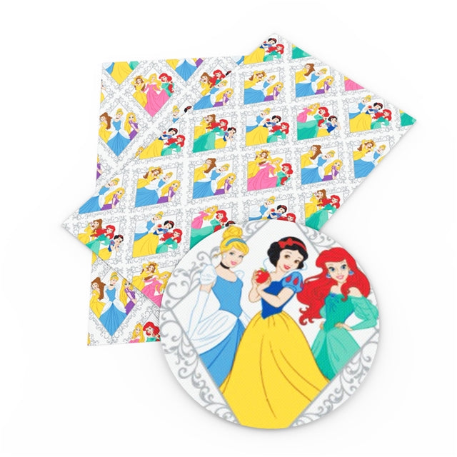 Princesses in Diamonds Faux Leather Sheet
