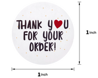 Thank you for your Order Stickers (500)