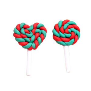 Polymer Clay Resin- Lollipop Christmas