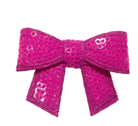 Sequin Bow with Tails 2""