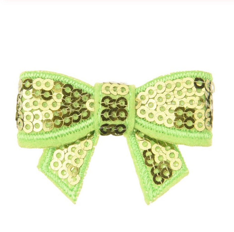 Sequin Bow with Tails 2