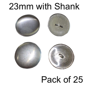 23mm Self Cover Buttons with Shanks (25)