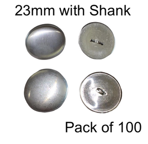 23mm Self Cover Buttons with Shanks (100)