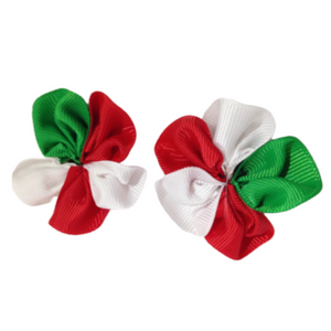 Christmas Ribbon Flower (10)