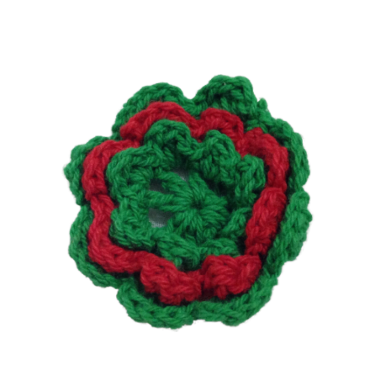 Crochet Christmas Flowers (6)