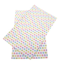 Spots Pastel on White Faux Leather Sheet
