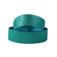 "Glitter Teal 7/8"" Ribbon"