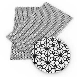 Tile Style - Black & White Faux Leather Sheet