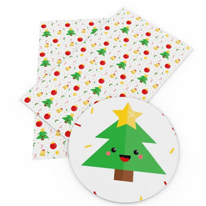 Christmas Character Decorations Faux Leather Sheet