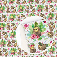 Sloth Tropical Faux Leather Sheet