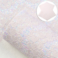 Lace Chunky Glitter Faux Leather Sheet