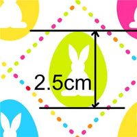 Easter Rabbit Silhouette in Bright Diamonds Faux Leather Sheet