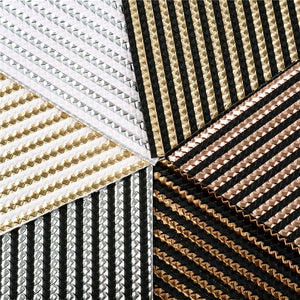 Gold Stripe A5 Sheet Faux Leather Pack of 6