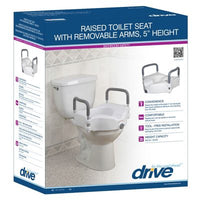 "5"" Raised Toilet Seat w/ Removable Arms"