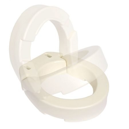 Hinged Toilet Seat Riser for Elongated Toilets