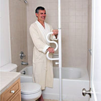 Security Pole & Curved Grab Bar