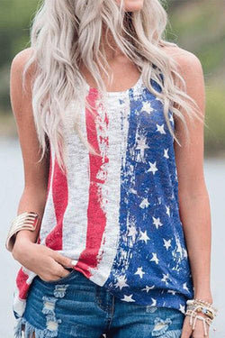 IceyChic American Flag Tank Top-IceyChic Fashion