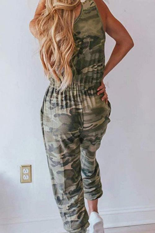 IceyChic Camo Self Tie Jumpsuit-IceyChic Fashion