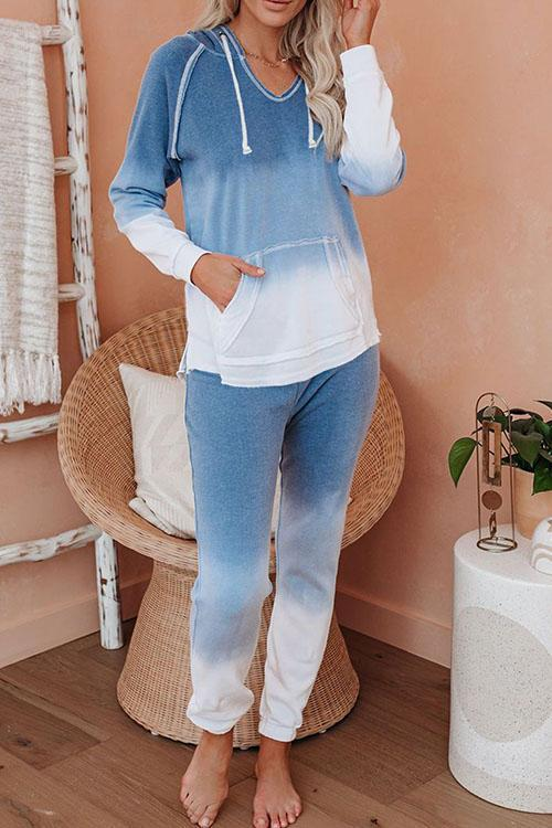 IceyChic Cotton Blend Pocketed Tie Dye Sweatsuit(5 Colors)-IceyChic Fashion