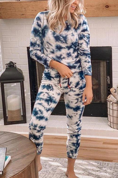 IceyChic Crew Neck Tie Dye Suit-IceyChic Fashion