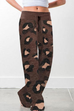 IceyChic Elastic Waist Leopard Pants (2 Colors)-IceyChic Fashion