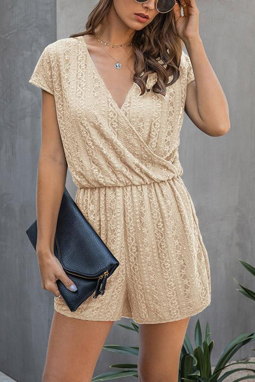 IceyChic Lace V-Neck Romper (3 Colors)-IceyChic Fashion