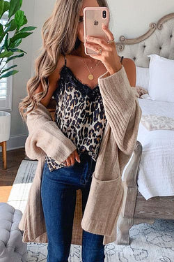 IceyChic Leopard Lace Cami Top (2 Colors)-IceyChic Fashion