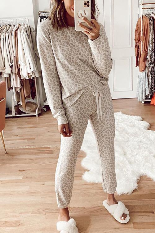 IceyChic Leopard Peachy Sweatsuit-IceyChic Fashion