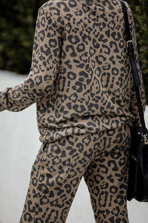 IceyChic Leopard Pockets Sweatsuit-IceyChic Fashion