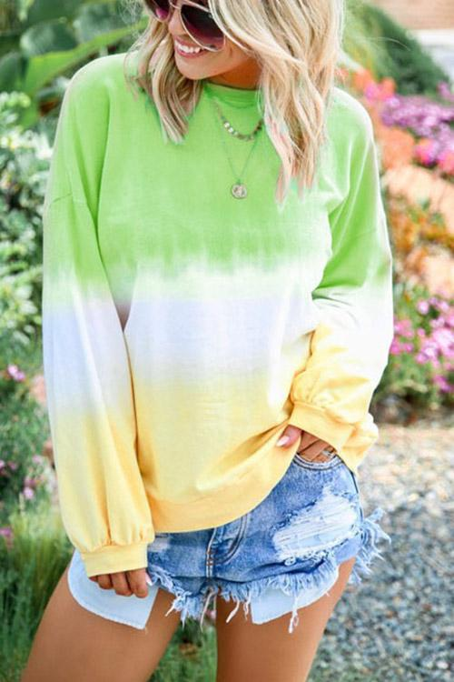 IceyChic Plus Size Tie Dye Pullover Sweatshirt (8 Colors)-IceyChic Fashion