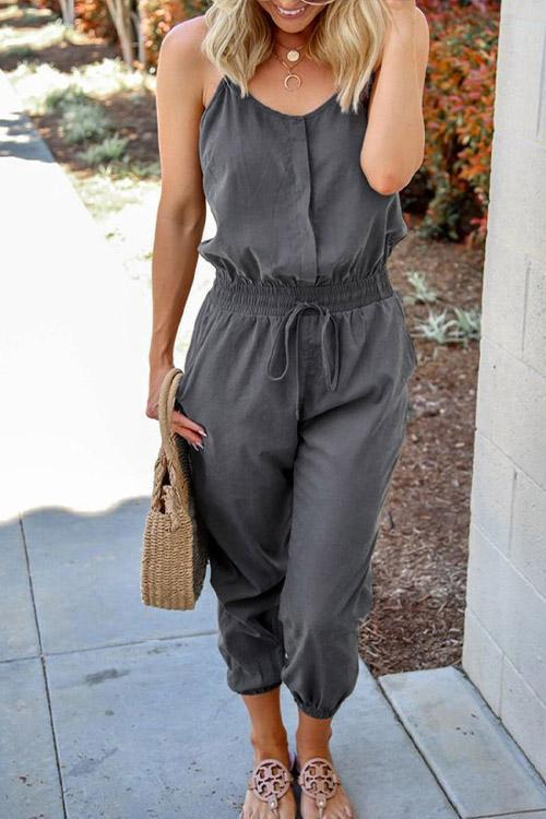 IceyChic Pocketed Self Tie Slip Jumpsuit-IceyChic Fashion