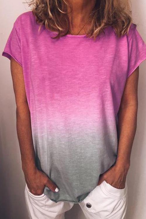IceyChic Rainbow Gradient Color Tee (7 Colors)-IceyChic Fashion