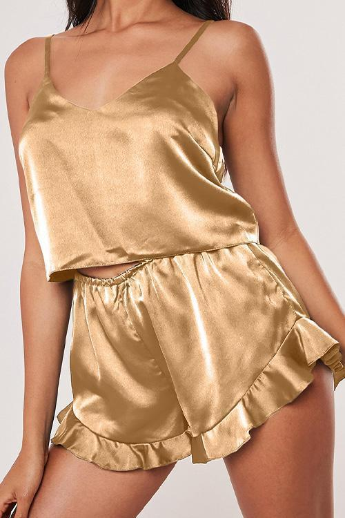 IceyChic Satin Cami PJ Set (3 Colors)-IceyChic Fashion