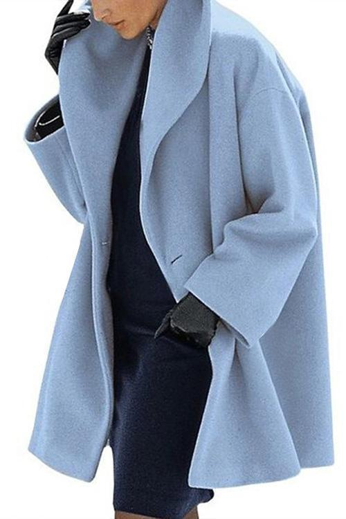 IceyChic Solid One Button Loose Coat (7 Colors)-IceyChic Fashion