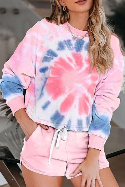 IceyChic Tie Dye Hooded Lounge Sweatsuit (3 Colors)-IceyChic Fashion