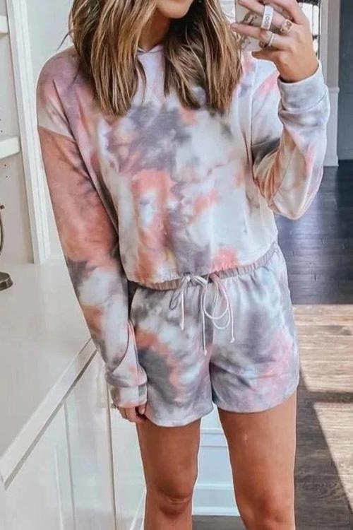 IceyChic Tie Dye Hooded Suit-IceyChic Fashion