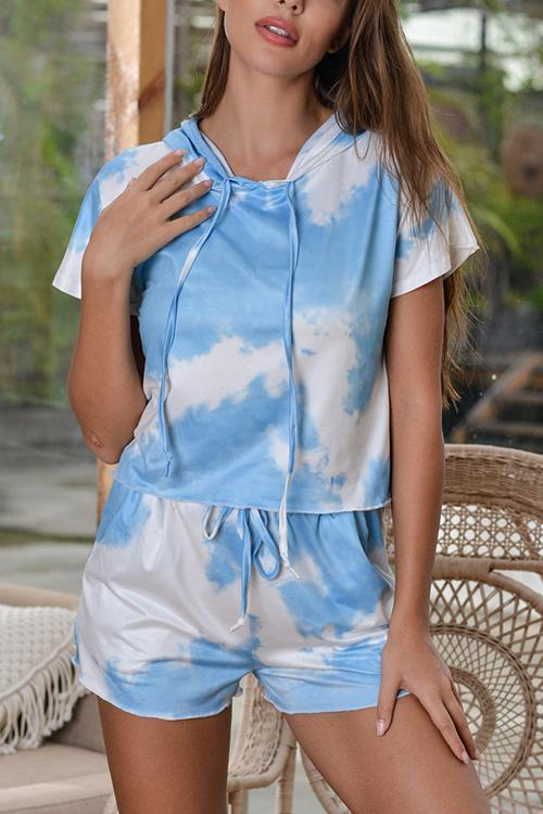 IceyChic Tie Dye Hoodie & Shorts Set (3 Colors)-IceyChic Fashion