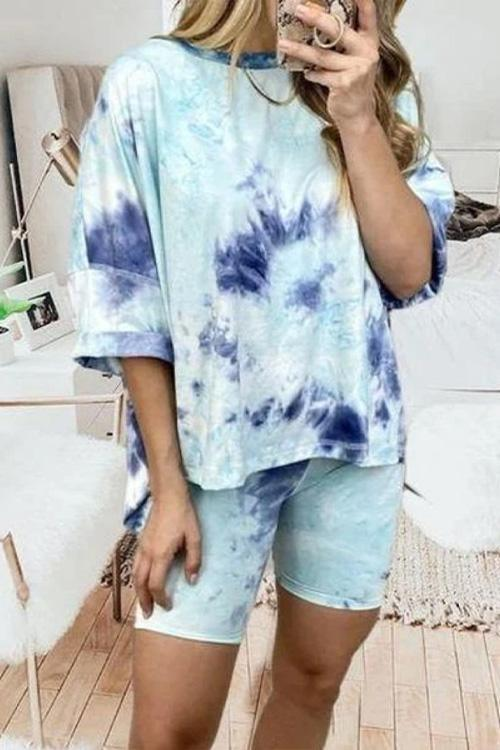 IceyChic Tie Dye Loose Suit-IceyChic Fashion